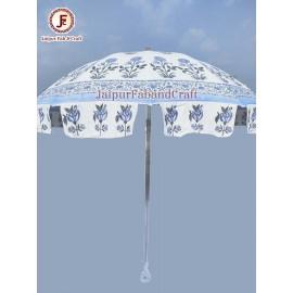 Hand block print giant umbrella