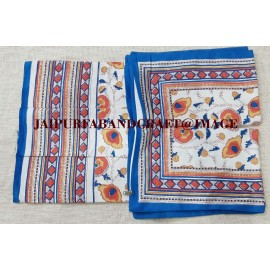 HAND BLOCK PRINT COTTON BEDSHEET WITH PILLOW COVERS