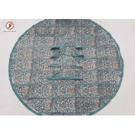 Cotton Hand block print  Round Table cover with napkins.