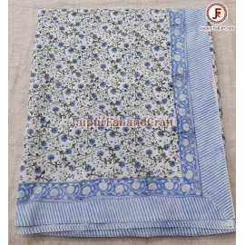 Cotton Hand block print Table cover
